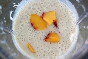 smoothie banaan perzik
