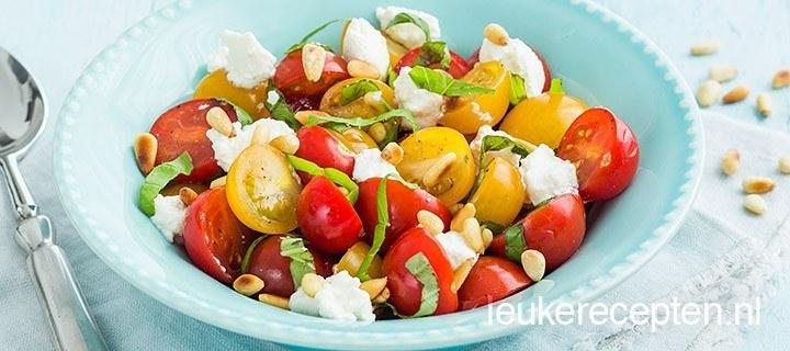 Tomatensalade met ricotta