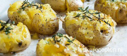 Knoflook aardappels