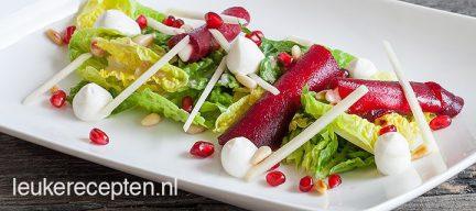 Salade met rode biet geitenkaas