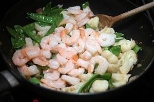 Curry garnalen met bloemkool 01