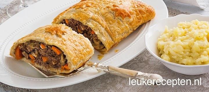 Beef wellington met gehakt