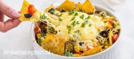 Mexicaanse nachos uit de oven