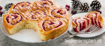 Zoete cranberry broodjes
