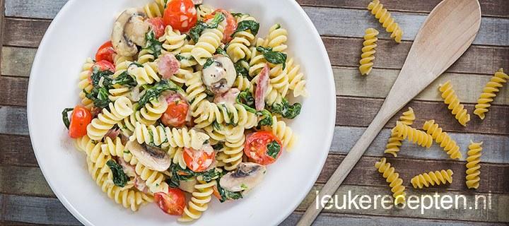 Budget recept: pasta met spinazie