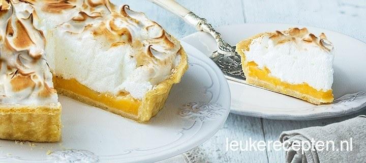 Citroen meringue taart