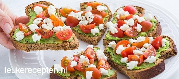 gezonde hartjes toast