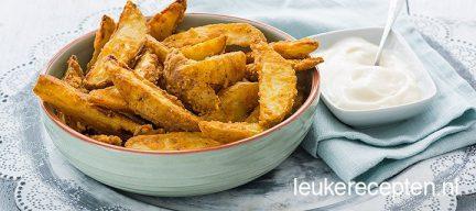 Zelf super krokante aardappel wedges maken