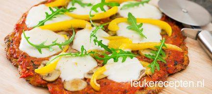 Glutenvrije courgette pizza