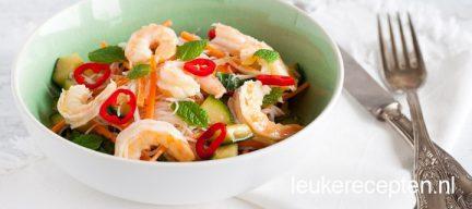 Gamba noodle salade