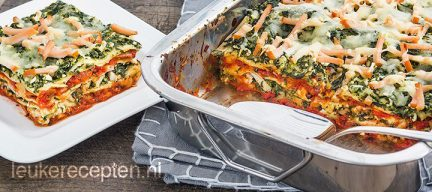 Light recept: lasagne met spinazie