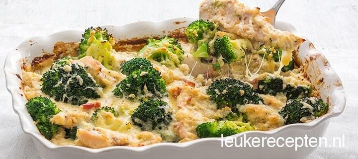 Romige quinoa schotel met kip