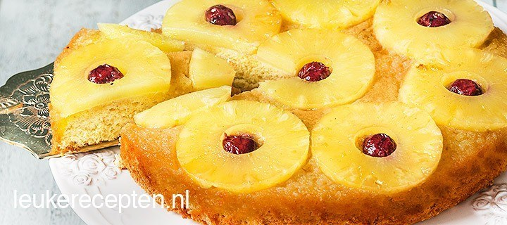 Upside down ananas cake