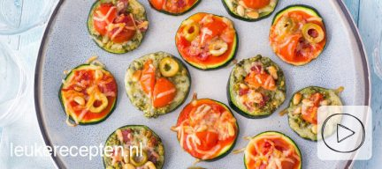 Video: mini courgette pizza's