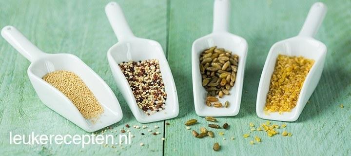7 populaire granen en zaden op een rijtje – deel 1