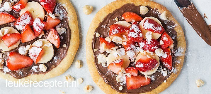 Mini Nutella pizza's met fruit