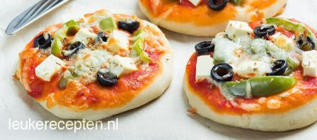 Griekse mini pizza