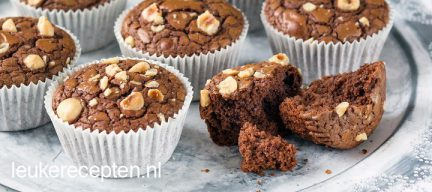 Snelle Nutella brownie muffins