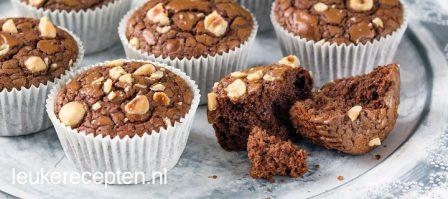 Snelle Nutella brownie muffins