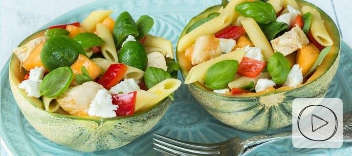 Video: pastasalade met meloen