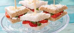sandwich aardbeien
