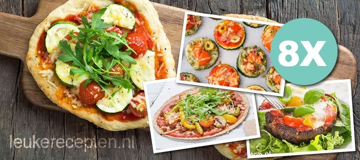 8 x pizza zonder pizzadeeg