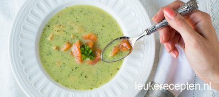 Courgettesoep met zalm