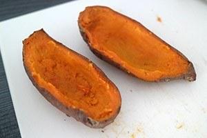gevulde zoete aardappel met spek 01