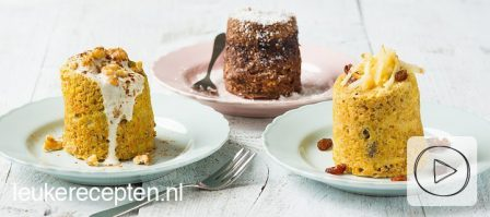 Video: 3 x gezonde cake mug