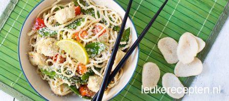 Noodles met kokos en limoen
