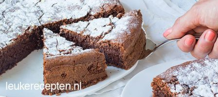 Torta caprese (chocolade amandeltaart)