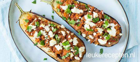 Grieks gevulde aubergine