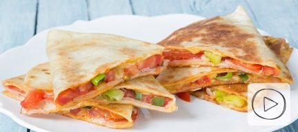Video: quesadilla's met ham