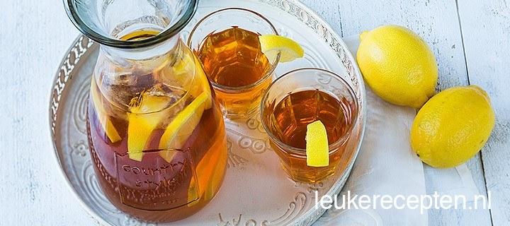 Zelfgemaakte ice tea