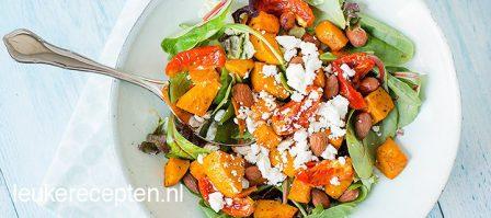Zoete aardappel salade met feta
