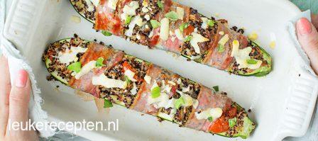 Gevulde courgette met quinoa
