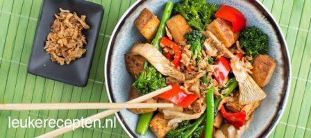 Roerbak tofu met bimi