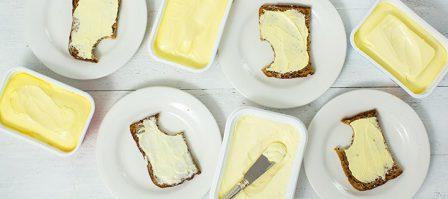 Boter vs. margarine: verschil, inhoud & smaaktest
