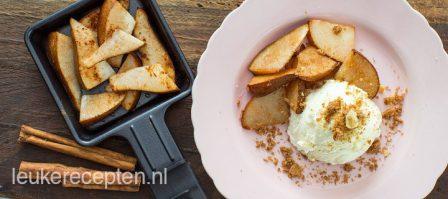 Gourmet recept: peer met ijs