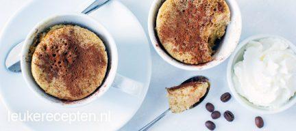 koffie mug cake