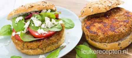 Vega linzen burger