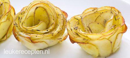 DIY: aardappelroosjes met rozemarijn