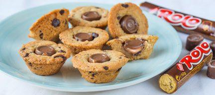 ROLO chocolade muffin koekjes