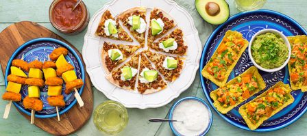 3 x Mexican fingerfood
