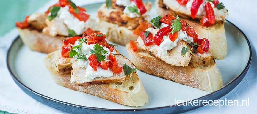 Favoriete Bruschetta met kip - Leuke recepten #NV75