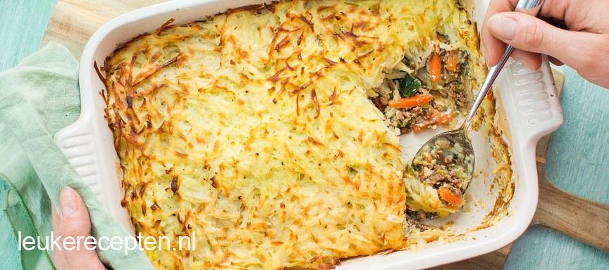 recept aardappelschotel met gehakt