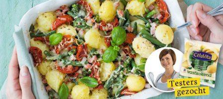 Ovenschotel met aardappels en sperziebonen + testers gezocht!