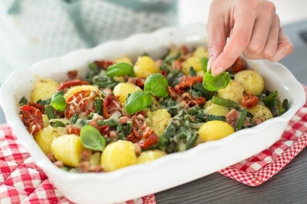 ovenschotel met aardappels en sperziebonen 04