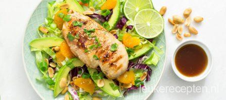 Salade met kip en mandarijn