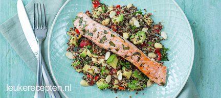 Quinoa salade met frisse zalm